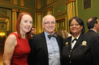 left to right: Mary Woolley, president and CEO, Research!America; Jack T. Watters, MD, Research!America Board member and VP for External Medical Affairs, Pfizer Inc.; and U.S. Surgeon General Regina Benjamin, MD, at Research!America's 2012 Advocacy Awards Dinner